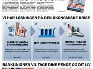 KAMPAGNEAVIS: <br>GLASS-STEAGALL, IKKE EU-FASCISME!