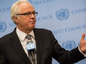 Den russiske ambassadør til i FN Vitaly Churkin: <br>Operationer imod ISIS er ulovlige, med mindre <br>FN's Sikkerhedsråd godkender det