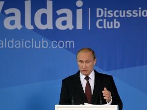 Putin siger sandheden i <br>Valdai Internationale Diskussionsklub