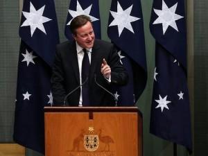 Cameron fordømmer Kina for den forbrydelse, <br>der hedder økonomisk vækst