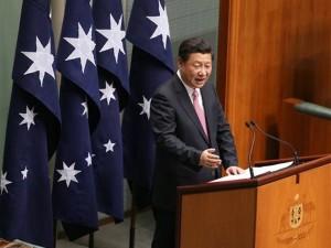 Kinas præsident Xi kommer med strategisk intervention <br>i imperielejren i det australske parlament