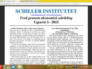 Schiller Instituttets Ugeavis 1 – 2015 : <br>Ting, vi ikke har drømt om, ligger  foran os: <br>Lyndon og Helga Zepp-LaRouche taler på  konference i Dubna, Rusland, den 22. dec. 2014