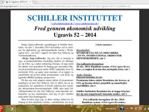 Schiller Instituttets Ugeavis 52 – 2014 <br>'Hvorfor USA må gå med i BRIKS. <br>En ny, international orden for menneskeheden'