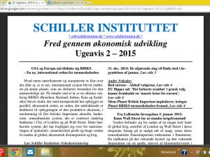 Schiller Instituttets Ugeavis 2 – 2015: <br>USA og Europa må tilslutte sig BRIKS-initiativet <br>– Frygt for, at 'anti-system' partiers valgsejr i Grækenland vil smitte i hele EU