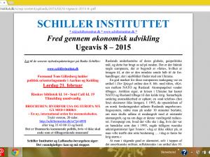 Schiller Instituttets Ugeavis 8 &#8211; 2015: <br>Lyndon LaRouche: Menneskets rolle i dag