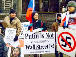 Fra LaRouche-bevægelsen 25. feb. 2015:  <br>London og dets neonazister presser hårdt på for at få verdenskrig