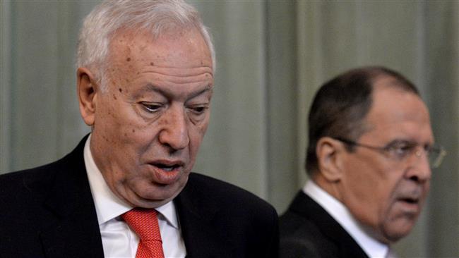 2015 – Under en lang pressekonference med den spanske udenrigsminister Jose Manuel Garcia-Margallo den 10. marts, gav den russiske udenrigsminister en ... - pressekonference-Lavrov-margallo-10-marts-2015