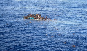 Refugees rescued in Mediterranean Sea