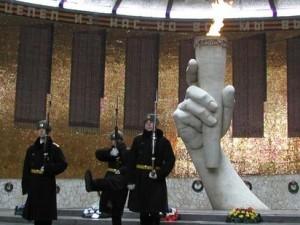 Den tyske udenrigsminister gav, sammen med sin russiske modpart, <br>en bevægende hyldest til kampen om Stalingrad