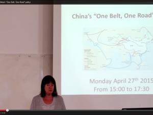 Helga Zepp-LaRouche: <br>Kinas politik for Ét bælte, én vej. <br>Seminar i København den 27. apr. 2015 (dansk)