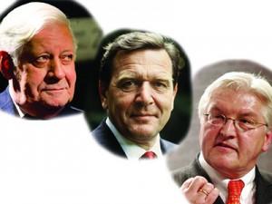 Schmidt, Schröder, Steinmeier