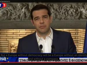 Grækenland: Tsipras udskriver folkeafstemning den 5. juli <br>– tale til det græske folk, fuld tekst
