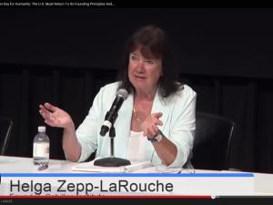 Helga Zepp-LaRouche besvarer spørgsmål på Konferencen på Manhattan, 6. juni 2015