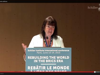 Helga Zepp-LaRouche: <br />Genopbyg verden i BRIKS-æraen <br />Hovedtale ved Schiller Instituttets konference i Paris, 13.-14. juni