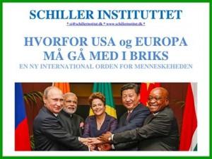 BROCHURE: HVORFOR USA OG EUROPA <br>MÅ GÅ MED I BRIKS – En ny, international <br>orden for menneskeheden. Udbred denne <br>nye, verdensforenende politik for fred og <br>fremgang for alle. Gå med i kampen!