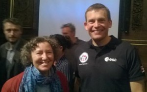 9/16/15 Copenhagen, Denmark Andreas Mogensen, 1st Dane in space, with Michelle Rasmussen EIRNS