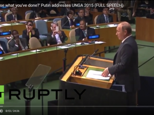 Præsident Putins fulde tale i FN 28. sept. <br>– video, engelsk voice over