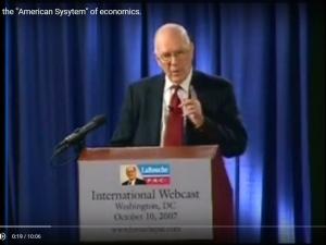 Video: Lyndon LaRouche: Om Det amerikanske, økonomiske System. Dansk udskrift