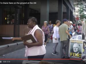 LaRouche-bevægelsen vil være massivt <br>til stede hver dag  ved De forenede <br>Nationer, New York City