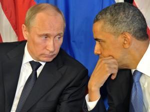 Obama/Putin-mødet i NY:  <br>Vred Obama tvunget til at befatte sig med Ruslands Putin