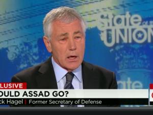 USA: Fhv. forsvarsminister Hagel understreger <br>opposition til de neokonservatives <br>'Assad-skal-væk'-strategi