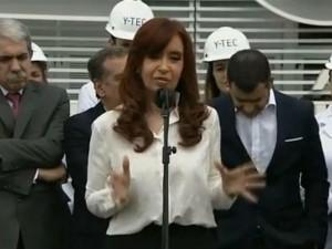 Afgående argentinske præsident Cristina Fernández <br>de Kirchner opfordrer borgerne til lidenskabeligt <br>at forsvare den 'videnskabelige arv' og suverænitet