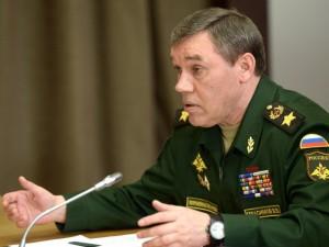 General Gerasimov: Det russiske militær udvikler sig fortsat <br>som reaktion på truslerne, som Rusland står overfor