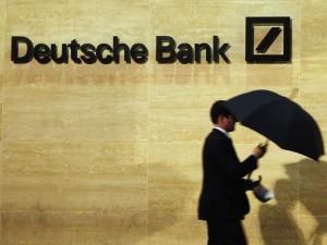 Deutsche Bank fører an i faldet