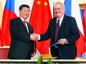 """Tjekkisk præsident vil gerne kombinere hans """"drøm"""" <br>med Xi's Kinesiske """"drøm"""""""