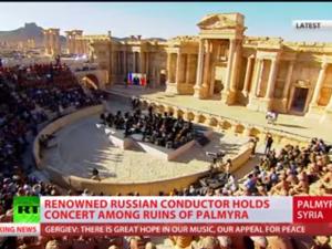 Russisk orkesterkoncert i det klassiske amfiteater i Palmyra –<br> et magtfuldt fingerpeg om håb for fremtiden