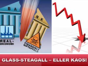 Lyndon LaRouche: Glass-Steagall må nu <br>vedtages som hastesag – før det <br>transatlantiske system nedsmelter