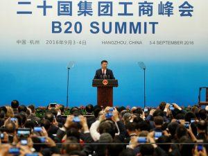 Præsident Xi Jinping har sat som mål at gøre en ende på fattigdom i verden. Tale ved B20-forum.