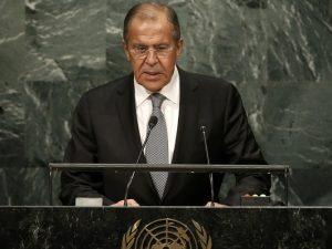 Lavrov i FN: Advarer: <br>»Tiden er inde til at lære lektien« af en unipolær verdens fiasko