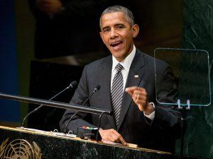 Obamas kliniske sindssyge udstillet for åbent tæppe i FN's Generalforsamling
