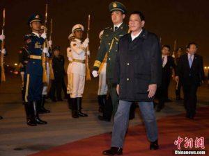 Kina/Filippinerne: Dutertes besøg i Kina <br>»sprængte boblen med 'Truslen fra Kina'«