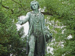 Friedrich Schiller: <br>»Favnet være millioner! <br>Søg op over stjerners hær!«