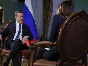 Ruslands premierminister Medvedev: Amerikansk-russiske <br>relationer værre end nogensinde; ikke vores ønske