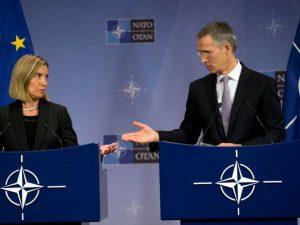 NATO's udenrigsministre mødes i skyggen af Trump