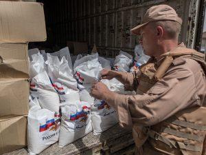 Rusland leverer nødhjælp til syrere hver dag; <br>briterne er ingen steder at se