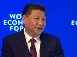 Xi Jinping på Davos Økonomiske Verdensforum <br>placerer udvikling i centrum for global styrelse