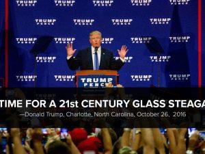 APPEL til Donald Trump om at genindføre Glass-Steagall <br>og et økonomisk program efter LaRouches Fire Love