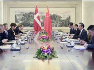 Udtalelse på Folkerepublikken Kinas Udenrigsministeriums <br>hjemmeside, om Wang Yis møde med Anders Samuelsen <br>– Læg mærke til sætningen om »Bælt & Vej«