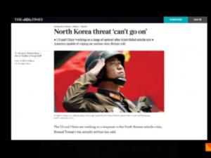 Britiske medier advokerer krig mod Nordkorea. <br>EIR kortvideo 21. april, 2017