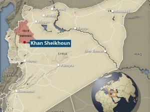 Syrisk luftangreb i Idlib rettet mod fabrik for kemiske våben, <br>bekræfter det Russiske Forsvarsministerium