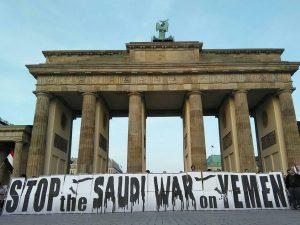 Yemen-demonstration i Berlin med deltagelse af Schiller Instituttet