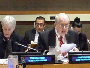 FN-kommission om Syrien nåede ikke til nogen <br>konklusion om angiveligt giftgasangreb