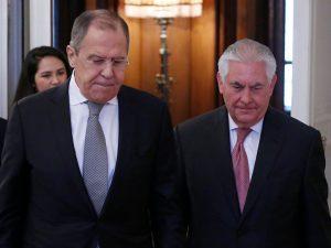 Lavrov og Tillerson taler i telefon om Syrien <br>og russisk-amerikanske relationer