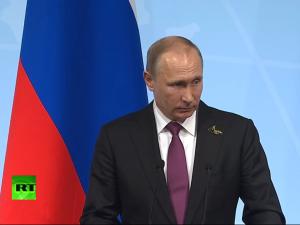Dokumentation: Putins pressekonference ved <br>afslutningen af G20-topmødet i Hamborg