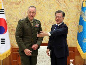 General Dunford i Sydkorea: <br>Amerikanske militære muligheder for Nordkorea <br>er kun i tilfælde af, at diplomati slår fejl