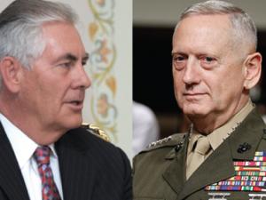USA's Tillerson og Mattis: Ingen amerikansk interesse i regimeskifte <br>eller fremskyndet koreansk genforening